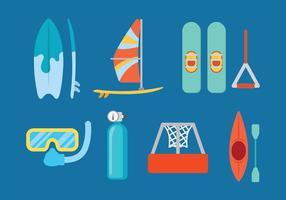 Wasser Skifahren Vektor