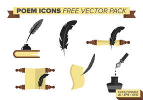 Gedicht Icons Free Vector Pack