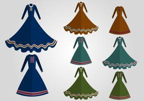 Schöne Abaya Vektor Set