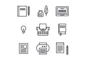 Berättande uppsättning ikoner