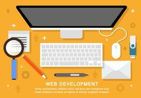 Free Business Workspace Vektor Hintergrund