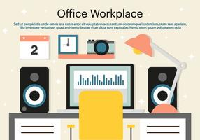 Gratis Office Workplace Vector Bakgrund