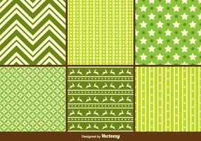 Grüne Weihnachten Vektor Muster