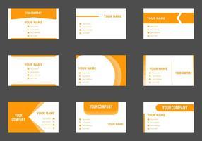 Kostenlose Visitenkarte Vektor Vorlage