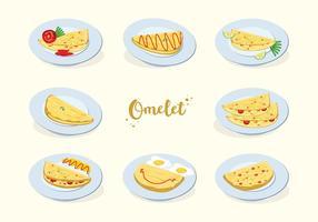 Gratis omelettvektor vektor