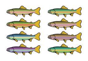 Regnbågeöring Fiskvektor vektor