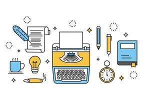 Free Writing Concept Vektor-Illustration