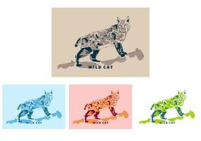 Wildkatze in Popart Porträt - frei