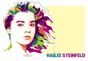 Hailee Steinfeld in Popart Porträt vektor