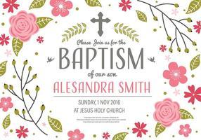 Kostenlose Einladung Taufe Vorlage Vektor