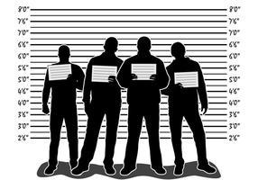 Mugshot illustration med människor vektor