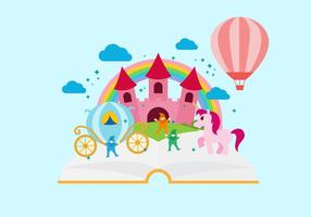 Free Storytelling Buch Vektor-Illustration vektor