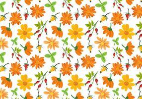 Freie Blumen Muster Vektoren