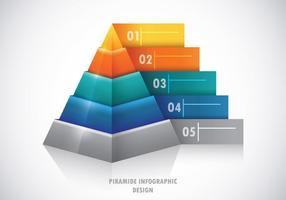 Piramide Infografisches Konzept vektor