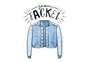 Kostenlose Blue Jean Jacke vektor
