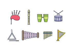 Freier Musikinstrument-Vektor vektor