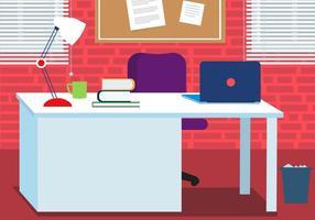 Freie Arbeit Vektor Schreibtisch