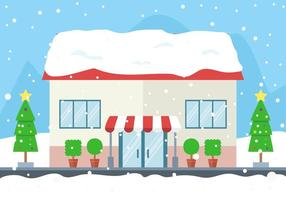 Gratis Vector Winter Store