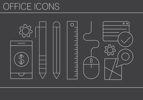 Kostenlose Office Icons vektor