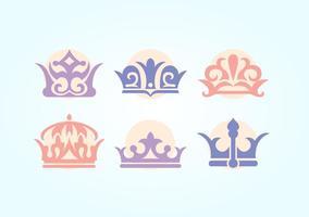 Brittisk krona vektor uppsättning