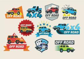 Off-Road-Jeep-Fahrzeug-Vektor-Design vektor