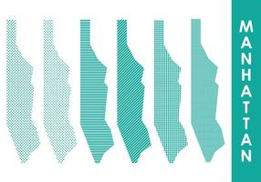 Manhattan Karta vektor