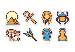 Freie Ägypten Icon Set vektor