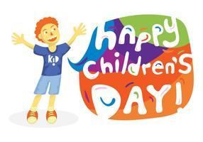 Gratis barn dag vektor illustration