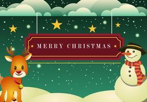 Schöne Weihnachtskarte vektor