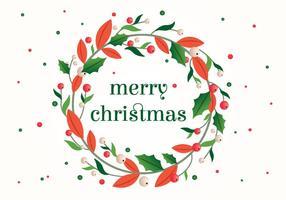 Weihnachten Vektor Kranz Illustration