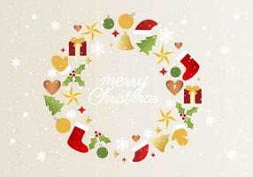 Weihnachten Vektor Kranz