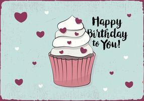 Gratis grattis på födelsedagen hälsningskort vektor