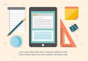 Kostenlose Business Workdesk Illustration vektor