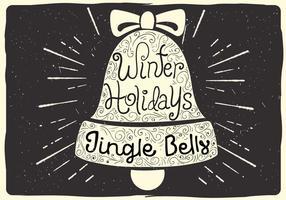 Gratis Jul Vektor Bell Illustration