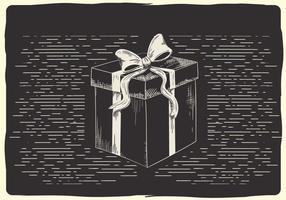 Gratis Jul Vektor Box Illustration