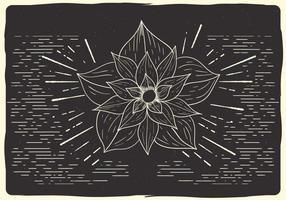 Gratis julblomma vektor illustration