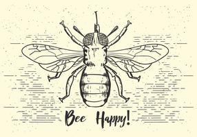 Gratis Vector Bee Illustration