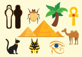 Piramide Ägypten Icons Vektor