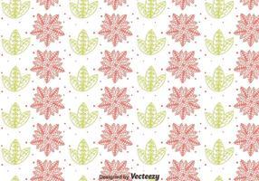Blume und Blatt Gipsy Stil Nahtlose Muster vektor