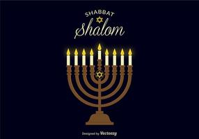 Shabbat Shalom Vector Bakgrund