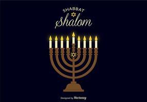 Shabbat Shalom Vektor Hintergrund