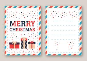 Frohe Weihnachten Karte Vektor