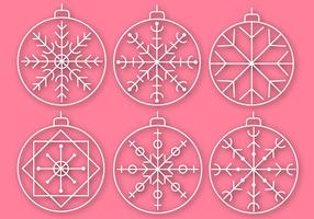 Gratis Christmas Baubles Vector