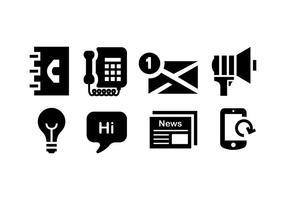 Comunication Icon gesetzt vektor