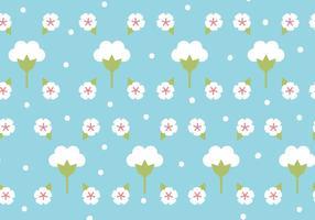 Flaches Design Baumwoll Blumenmuster vektor