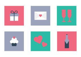 Alla hjärtans dag ikoner vektor