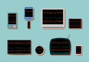 Herzfrequenz-Monitor Free Vector