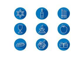 Shabbat Icon Gratis Vector