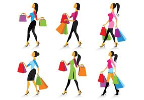 Set von Mujer Vektoren