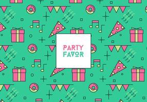 Party favor bakgrund vektor